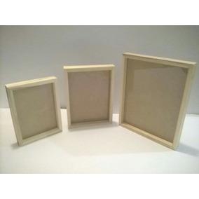 Portarretratos Box 13x18cm Blancos A Tan Sólo $ 52,00 Pesos