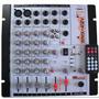 Mesa De Som Mixer 4 Canais -110/220/12v Com Efeito