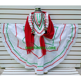 Disfraz Vestido Jalisco Blanco Vestuario Revolucionario R3