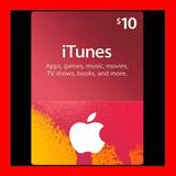Itunes Apple Card $10 Para Ipod Tarjeta Prepago