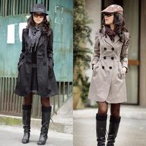 Casaco Sobretudo Feminino Trench Coat Inverno Frio Blazer