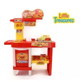 Cozinha Lanchonete Infantil 46 Acessórios Completa