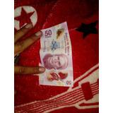 Billete De $50 Pesos Mexicanos Con Jose Maria Morelos