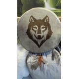 Oferta !!! Tambor Ceremonial Chamanico Medicina Lobo