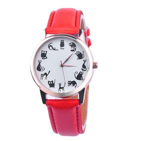 Relógio Luxo Feminino De Pulso Social Pulseira Couro Top