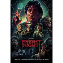 Poster De Filme Antigo Decoratico Fright Night Terror B
