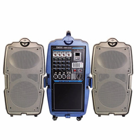 Sistema De Sonido Maleta Mezcladora Bafles Accesorios