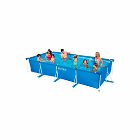 Piscina Rectangular Frame Set Intex 450 X 220 X 84 Cm