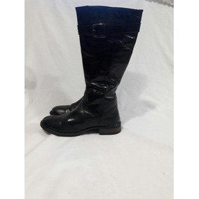 Bota De Montar N°39 Color Negro 100% Cuero Basement