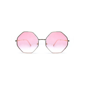 Lente De Sol Octagonal Color Rosado, Glasses G3, Pop8655