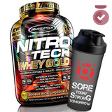 Nitro Tech Gold 2.72kg - Muscletech - 5g Bcaa + 4g Glutamina