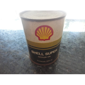 Lata De Óleo Antiga Da Shell