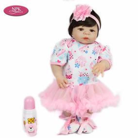 Boneca Bebê Reborn Menina 55cm Corpo Vinil Siliconado