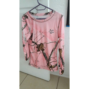 Blusa Manga Larga Realtree 100% Poliester Color Rosa