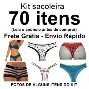Kit Sacoleira 70 Itens Calcinha Tanga Sutiã Soutien Atacado