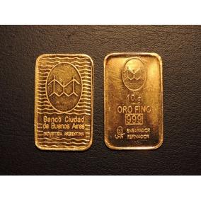 Lingote 10 Gramos Banco Ciudad Oro Fino 999 Inversión Ideal