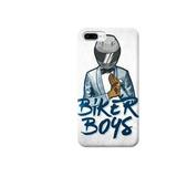 Funda Case Iphone 5 6 7 8 X Plus Biker Boys Motos Azul Traje