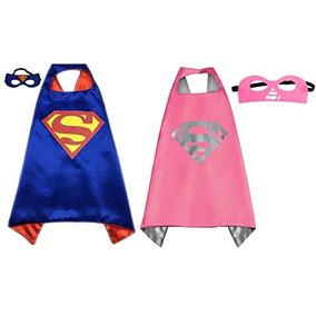 Pack De 2 Superhero Princesa Cape Amp; Mask Set Traje W15