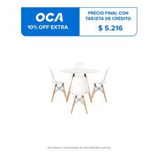 Juego De Comedor Con Mesa Circular De 80cm + 4 Sillas Eames