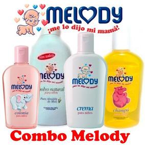 Combo Para Bebés Melody De Champú, Crema, Colonia Y Polvo