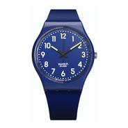 Reloj Swatch Mujer Azul Up-wind Soft Gn230o Silicona Wr 30