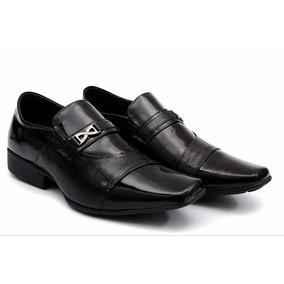 Sapato Social Masculino Couro Legítimo Verniz Italiano Luxo
