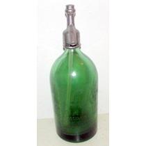 Sifon Verde Con Letras Gravadas Al Acido De Coleccion