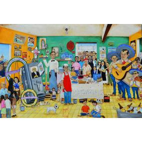 Se Murio El Muerto Pintura Oleo Original Cuadro Kinkin Rocha