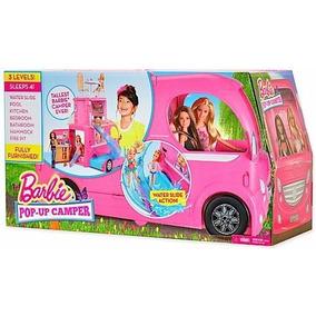 Novo Barbie Family Mega Trailer Pop-up Camper Mattel Cjt42