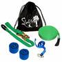 Slackline Kit Completo 10 Metros + Protetor, Backup E Bolsa