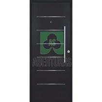 Puerta Doble Chapa Inyectada Pavir Imperi Epoxi Negro 90x200
