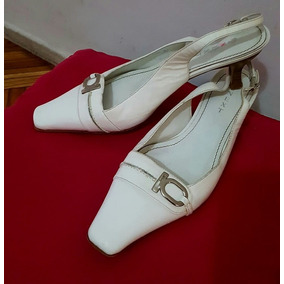 Oferta Zapatos Cuero Blanco Num 40 Novia Casamiento Fiesta