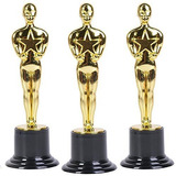 12 Estatuillas Premios Oscar Doradas 15cm Fiesta Hollywood