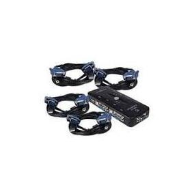 Kvm Switch De 4 Ptos. Con Cables *envío Gratis*