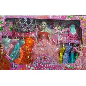 Barbie Com Coroa E Acessórios