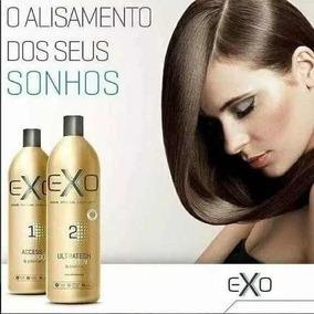 840e756ff Exo Hair Alisamento Exoplastia Capilar 2x1000ml Brinde - Produtos de ...