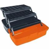 Caja Para Pesca 33 Compartimentos Color Naranja 10539