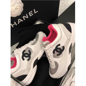 1e8191d4a52 Tênis Chanel 35 36 Feminino Na Caixa - Impecável