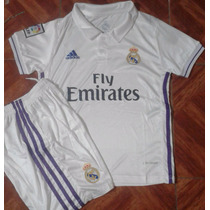 Conjunto De Niño De Real Madrid Blanco Con Morado