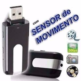 Gravador Voz Oculto Pen Drive Espião Detetive Micro +cartão