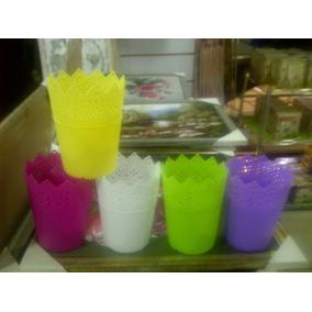 Cestas Plasticas Y Tobitos De Colores Para Candys Bar