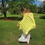 Poncho De Hilo Crochet (s Y M) - Reynas Tejidos Artesanales