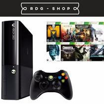 Xbox 360 Slim 4gb + 10 Jogos + Roda Jogos Hd E Dvd