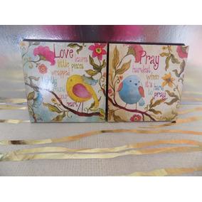Cuadros Decorativos Infantiles/niña(2 Pz) 20x20 Envio Gratis