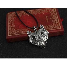 Collar Dije Lobo Nordico Joyería Hombre Vikingo Envío Gratis