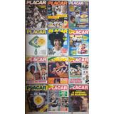 Lote 12 Revistas Placar Anos 80 Antiga Frete Grátis