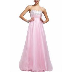 Vestido Formatura Rosa Plus Size 52 Pronta Entrega - Vf00037
