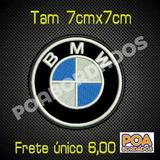 Bordado Termoc Logo Bmw 7cm Patch Carro Moto Pacth Tag Rally