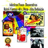 Adesivo Vinil Estampa Antiga Vintage Retro 30 X 40 Cm - 4,50