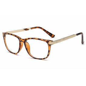 Óculos Grau Armação Feminina Em Acetato Metal Retrô Fashion